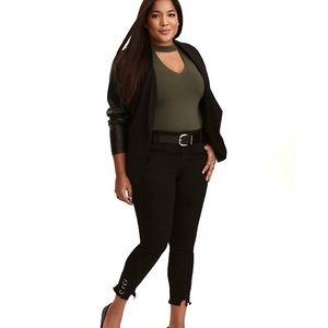 Torrid premium ankle skinny jean with ring cuffs